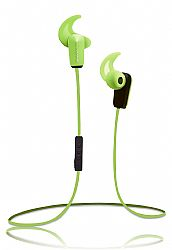 RevJams Active® Sport Wireless Bluetooth 4.0 Earbuds with Noise Isolation and in line microphone, Green OPEN BOX