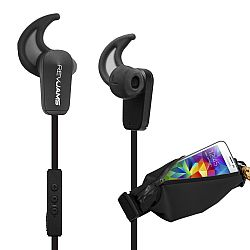 RevJams Active Bluetooth 4.0 headphones with Sports running waist pack, Black