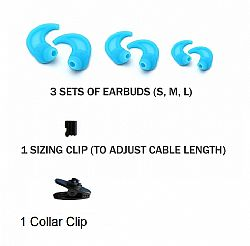 RevJams Active headphones Spare Parts kit- Blue