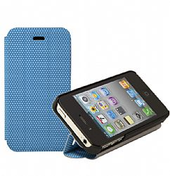 RevJams FlipBack Smart Case/Cover with Stand for iPhone 4/4S, Black-Blue