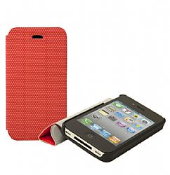 RevJams FlipBack Smart Case/Cover with Stand for iPhone 4/4S, Black-Red
