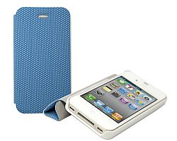 RevJams FlipBack Smart Case/Cover with Stand for iPhone 4/4S, White-Blue