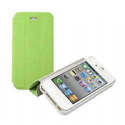 RevJams FlipBack Smart Case/Cover with Stand for iPhone 4/4S, White-Green