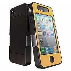 iSkin Revo4 for iPhone 4/4S (Black/Yellow)