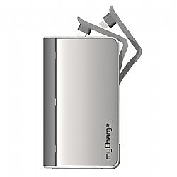 myCharge Hub 6000 Universal Rechargable Power Bank - Silver
