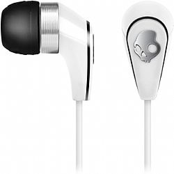 Skullcandy 50/50 In-Ear Headset with Mic (White/Chrome)