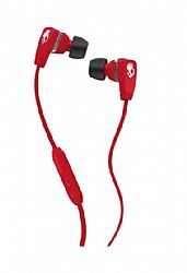 Skullcandy Merge Ear Bud w/ Mic - Red/Chrome