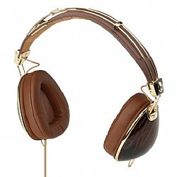 Skullcandy Aviator On-Ear Headphones with Mic (Brown/Gold)