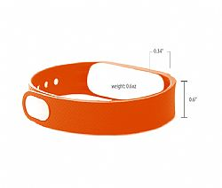 Jarv Elite Orange Wrist Band Replacement (metal clip included)
