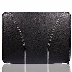 iSkin SOHO 15-Inch Laptop Sleeve Premium Protection for MacBook Pro and PC, Black/Grey