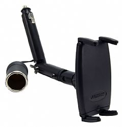 Arkon Slim-Grip Lighter Socket Mount with 12V Power Dongle