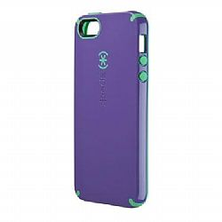 Speck CandyShell Case for iPhone 5 - Grape Purple/Malachite Green