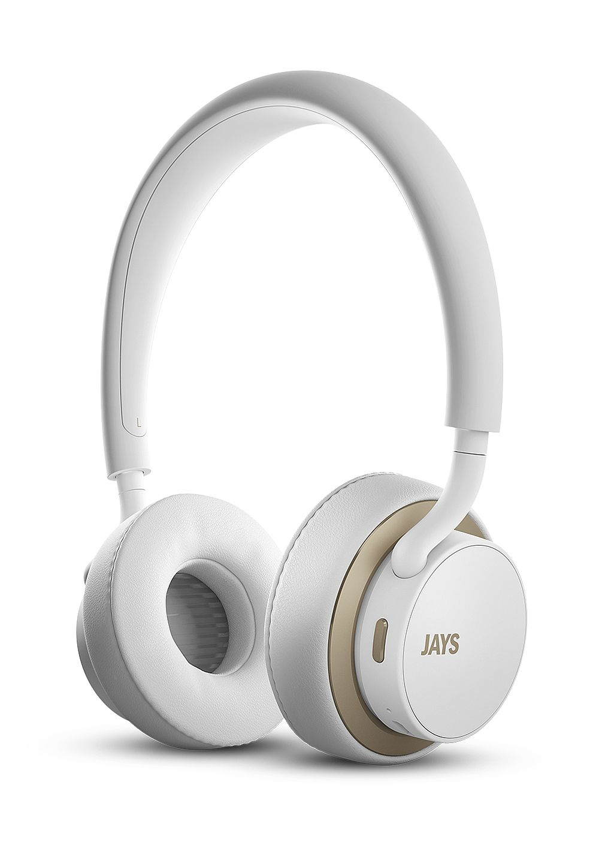 Jays u-JAYS Wireless Bluetooth Headphones White/Gold at MobileCityOnline.com