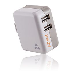 AZURA Dual USB 3.1A Mobile Travel Charger - White