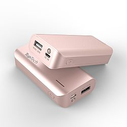 Toptech 4000mAh Powerbank with flashlight and LED indicator -Rose Gold  (in bulk)