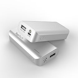 Toptech 4000mAh Powerbank with flashlinght and LED indicator -Silver  (in bulk)