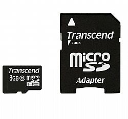 Transcend 8GB MicroSD Memory Card with Adapter