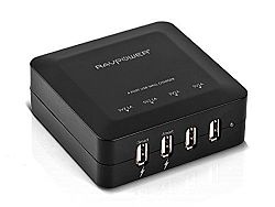 RAVPower RP-UC07 30W/6A 4-Port Rapid Charging Station(Black)