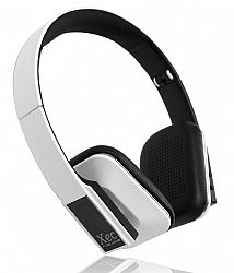 RevJams Xec On Ear HD Wireless Bluetooth Stereo Headphones with In-line Microphone, White OPEN BOX
