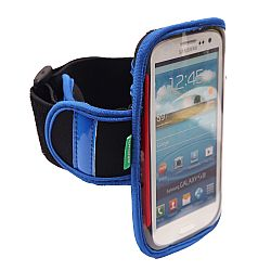 Arkon Universal XXL Smartphone Workout Armband for Samsung Galaxy S3, S4, Galaxy Nexus, RAZR Maxx HD,  Moto X, Moto G and More - Blue