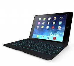 ZAGG ZAGGkeys Folio Case with Backlit Keyboard for iPad Air - White